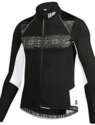 Недорогие -SANTIC Велокуртки Муж. Велоспорт Зимняя куртка Одежда для велоспорта Противозаносный С защитой от ветра Мягкость Воздухопроницаемость