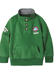 cheap -Baby Boys' Daily Holiday Solid Colored Hoodie & Sweatshirt, Cotton Spring Simple Casual Long Sleeves Green