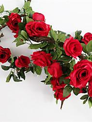 Недорогие -Искусственные Цветы 1 Филиал Свадьба / Европейский стиль Розы Цветы на стену