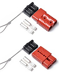 cheap -2 PCS RED 175 AMP CONNECTOR PLUG 175A TRAILER DUAL BATTERY Battery Quick WITH CAP FOR CARAVAN 12v 24v 175A