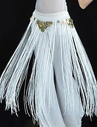 abordables -Danza del Vientre Ordinario Pañuelos de Cadera para Danza del Vientre Mujer Entrenamiento Rendimiento Poliéster Cinturón Borla Moderno