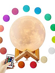 cheap -YouOKLight 1set Moon 3D Nightlight RGB USB Atmosphere Lamp Creative Novelty