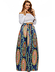 cheap -Women's Boho Maxi A Line Skirts - Geometric