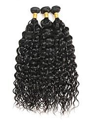 tanie -3 zestawy Włosy brazylijskie Curly 10A Włosy naturalne remy Fale w naturalnym kolorze Ludzkie włosy wyplata Ludzkich włosów rozszerzeniach