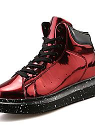 Недорогие -Муж. Лакированная кожа Весна / Осень Удобная обувь Спортивная обувь Для прогулок Черный / Серебряный / Красный