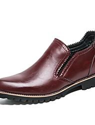 baratos -Homens sapatos Courino Materiais Customizados Sintético Outono Inverno Conforto Mocassins e Slip-Ons para Casual Escritório e Carreira