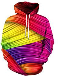 cheap -Men's Women's Long Sleeves Slim Hoodie - Rainbow Hooded