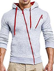 Недорогие -мужские длинные рукава с капюшоном - цветной блок
