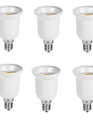 Недорогие -6шт E14 на E27 E14 Аксессуары для ламп / Конвертер пластик Разъем для лампочки