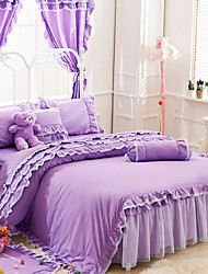 cheap -Duvet Cover Sets Solid 3 Piece Poly/Cotton Yarn Dyed Poly/Cotton 1pc Duvet Cover 1pc Sham 1pc Flat Sheet