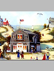 Недорогие -Отпечатки на холсте Традиционный, 1 панель холст Горизонтальная С картинкой Декор стены Украшение дома