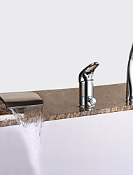 cheap -Bathtub Faucet - Modern Chrome Roman Tub Ceramic Valve
