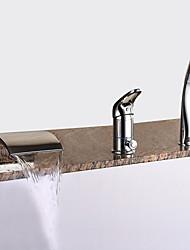 abordables -Grifo de bañera - Modern Cromo Bañera romana Válvula Cerámica