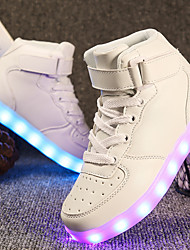 cheap -Boys' / Girls' Shoes Leatherette Spring Comfort / Light Up Shoes Sneakers Walking Shoes Lace-up / Hook & Loop / LED for Red / Blue / Pink