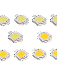 billiga -10st 10w high bright led ljus lampa chip dc 9-12v vit varm vit