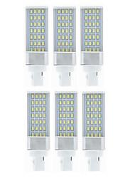 cheap -SENCART 6pcs 9W 750-850lm G24 LED Bi-pin Lights 28 LED Beads SMD 5630 Decorative Warm White / White 85-265V