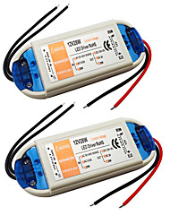 cheap -2pcs 110/220   12 V Bulb Accessory / Strip Light Accessory Power Supply / Power Adapter Plastic for LED Strip light