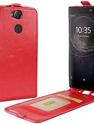 economico -Custodia Per Sony Xperia XA2 Ultra Xperia XZ2 Porta-carte di credito Con chiusura magnetica Integrale Tinta unica Resistente pelle