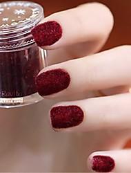 baratos -8pcs Glitter Powder Cor Única Portátil Ferramenta de arte de unhas