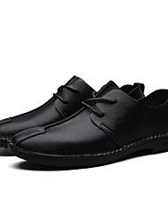 povoljno -Muškarci Cipele Koža Proljeće Jesen Udobne cipele Oksfordice za Kauzalni Crn Dark Blue Svjetlosmeđ