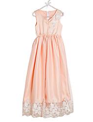 abordables -Robe Fille de Quotidien Couleur Pleine Polyester Printemps Sans Manches Mignon Blanc Orange Rose Claire Fuchsia