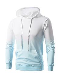 cheap -Men's Long Sleeves Hoodie - Color Block Hooded