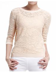 preiswerte -Damen Pullover-Solide,Spitze