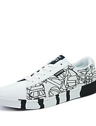 abordables -Homme Chaussures Polyuréthane Printemps Automne bottes slouch Confort Basket Blanc Noir Bleu
