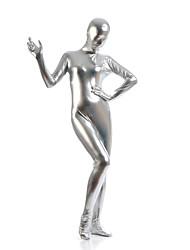 """Недорогие -Костюмы на все тело """"зентай"""" Ниндзя Костюмы зентай Косплэй костюмы Серебряный Однотонный Костюмы зентай Спандекс клей Универсальные"""