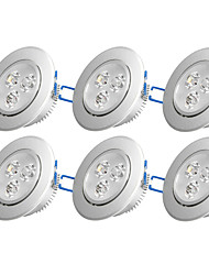 preiswerte -6pcs 3W 300-350 lm Keiner Einbauleuchten 3 Leds Hochleistungs - LED Dekorativ Warmes Weiß Kühles Weiß Wechselstrom 110-130V Wechselstrom