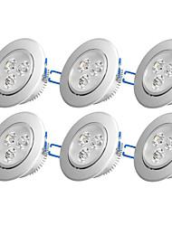 billiga -6pcs 3W 300-350 lm Inget Infälld glödlampa 3 lysdioder Högeffekts-LED Dekorativ Varmvit Kallvit AC 110-130V AC 220-240V AC 85-265V