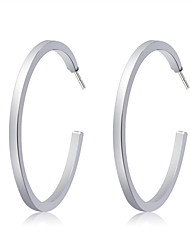cheap -Women's Hoop Earrings - Silver Plated Fashion, Oversized Silver For Party / Evening / Daily