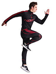 cheap -Men's Tracksuit Long Sleeves Windproof Wearable Breathable Softness Zip Top Pants / Trousers Clothing Suits for Camping / Hiking Exercise