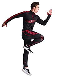 Недорогие -Муж. Спортивный костюм Длинный рукав С защитой от ветра Пригодно для носки Дышащий Мягкость Куртка на молнии Брюки Наборы одежды для