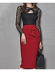 abordables -Mujer trajes Un Color, Algodón