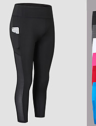 cheap -Yoga Pants 3/4 Tights Fast Dry Mid Rise High Elasticity Sports Wear Women's FORSINING Yoga Exercise & Fitness Gym Running