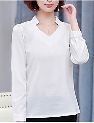 Недорогие -Жен. Рубашка V-образный вырез Классический