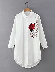 abordables -Mujer Camisa, Cuello Camisero Floral