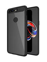 Недорогие -Кейс для Назначение OnePlus OnePlus 5T 5 Защита от удара Полупрозрачный Кейс на заднюю панель Сплошной цвет Твердый ПК для One Plus 5