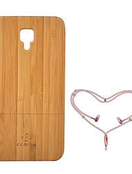 Недорогие -Кейс для Назначение Xiaomi Mi 4 Защита от удара Кейс на заднюю панель Сплошной цвет Твердый Бамбук для Xiaomi Mi 4