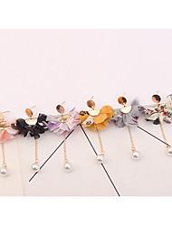 preiswerte -Damen Kronleuchter Tropfen-Ohrringe - Blume Europäisch, Modisch Purpur / Gelb / Rosa Für Party / Abend