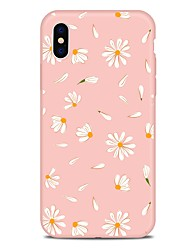billige -Etui Til Apple iPhone X iPhone 8 Plus Mønster Bagcover Blomst Blødt TPU for iPhone X iPhone 8 Plus iPhone 8 iPhone 7 Plus iPhone 7 iPhone