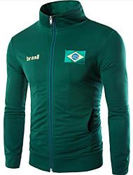 abordables -Homme Mao Manches Longues Sweatshirt - Imprimé, Géométrique