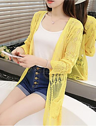 cheap -Women's Ordinary Jacket-Solid Colored,Lace