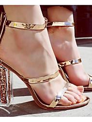 preiswerte -Damen Schuhe PU Frühling / Sommer Komfort / Pumps Sandalen Blockabsatz Gold