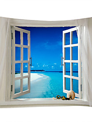 cheap -Beach Theme Landscape Wall Decor 100% Polyester Contemporary Modern Wall Art, Wall Tapestries of