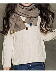 preiswerte -Mädchen Pullover & Cardigan Alltag Solide Polyester Winter Frühling Langarm Einfach Blau Weiß Schwarz