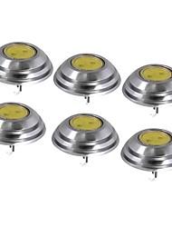 Недорогие -SENCART 6шт 1.5W 60lm G4 Двухштырьковые LED лампы T 1 Светодиодные бусины COB Декоративная Тёплый белый / Холодный белый 12V