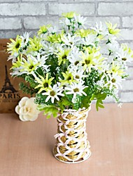cheap -Artificial Flowers 2 Branch Simple Style / Pastoral Style Daisies Tabletop Flower