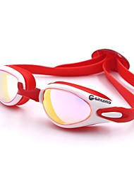 cheap -Swimming Goggles Swimming Goggles Waterproof Sun Protection Silicone Polycarbonate Red Pink Black Dark Blue Red Pink Black Blue Dark Blue
